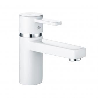 Zenta White Basin Mixer. Image: 7