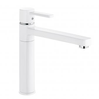 Zenta White Sink Mixer. Image: 14