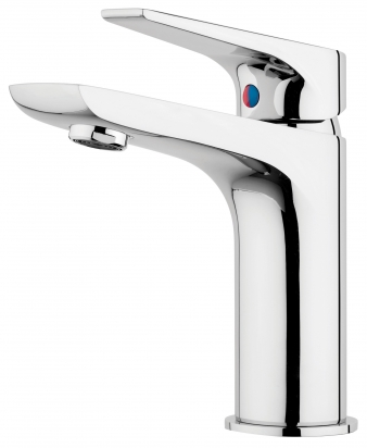 Solitaire Chrome Basin Mixer. Image: 5