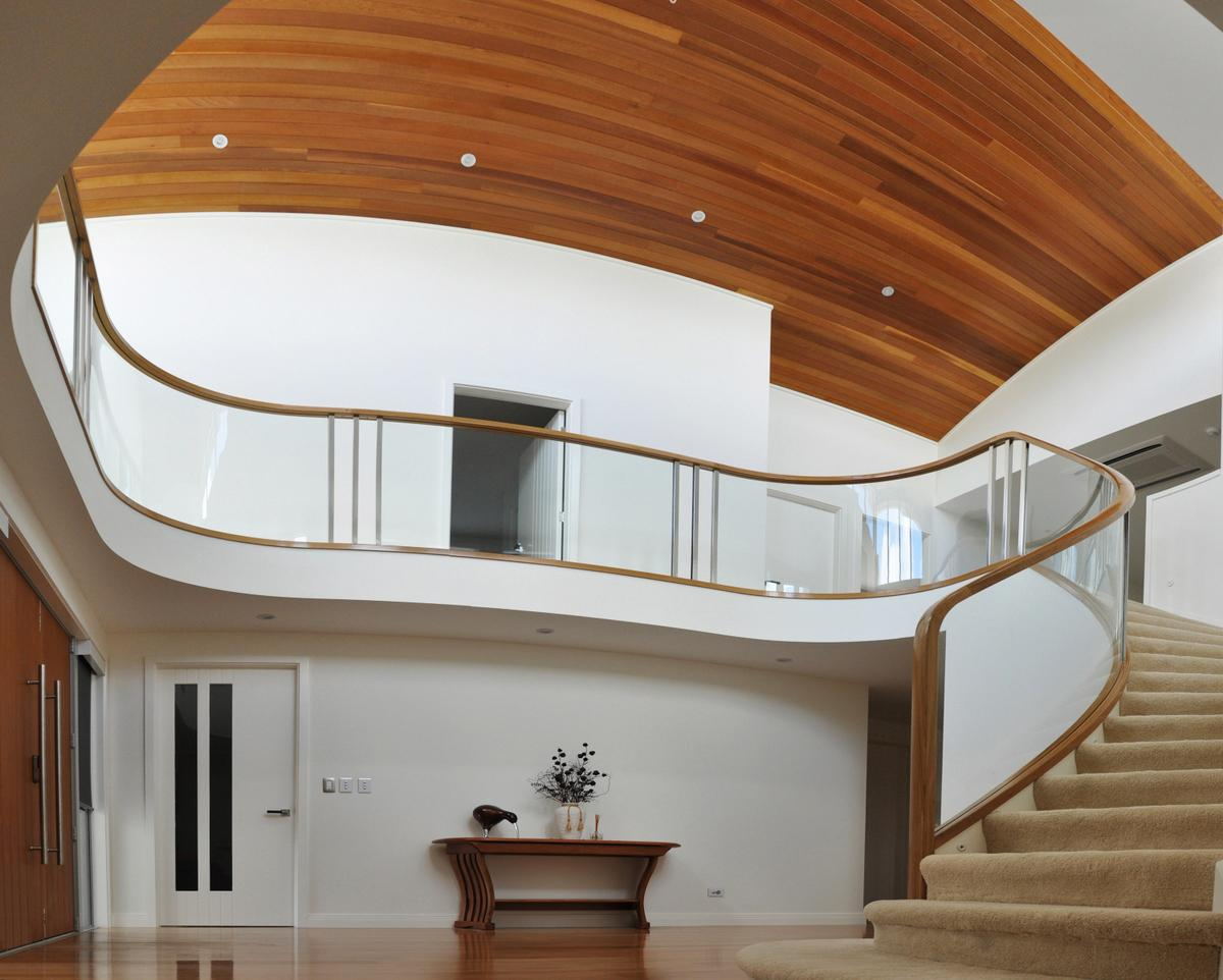 Wooden Framing with Glass Balustrades