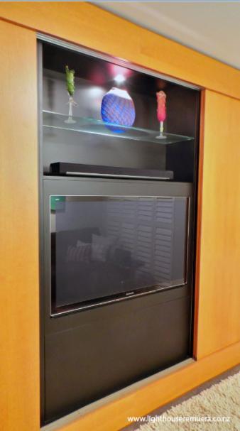 TV Cabinet lighting design by Kane McHugh. Image: 34