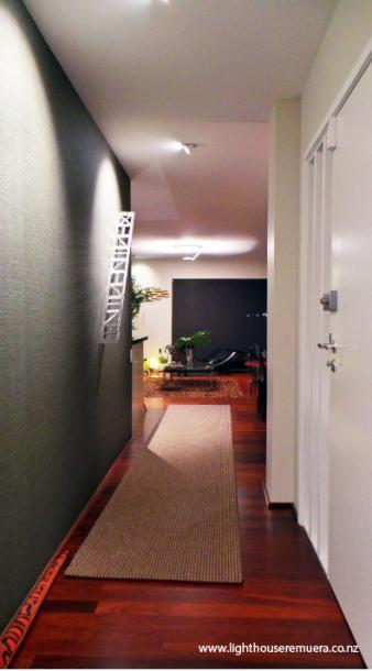 Hallway lighting design by Kane McHugh. Image: 32