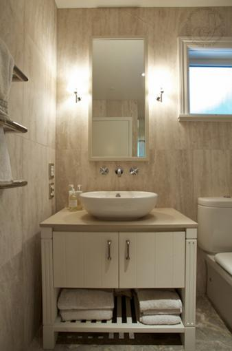 Cape Cod Style Guest Bathroom. Image: 1