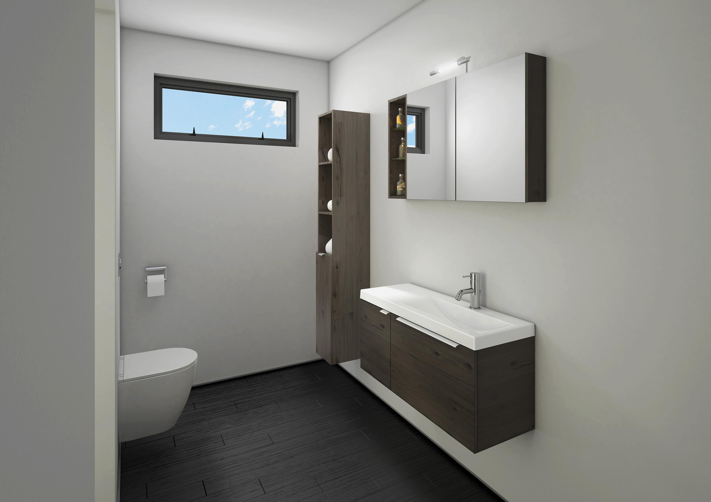 Narrow bathrooms by st michel nz for Small bathroom designs nz